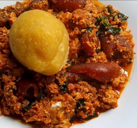 Tomato Egusi Melon Stew Soup In Nigeria Nigerian Fufu And Soup Recipes
