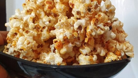 homemade caramel popcorn from scratch using a frying pan archive wives connection recipes